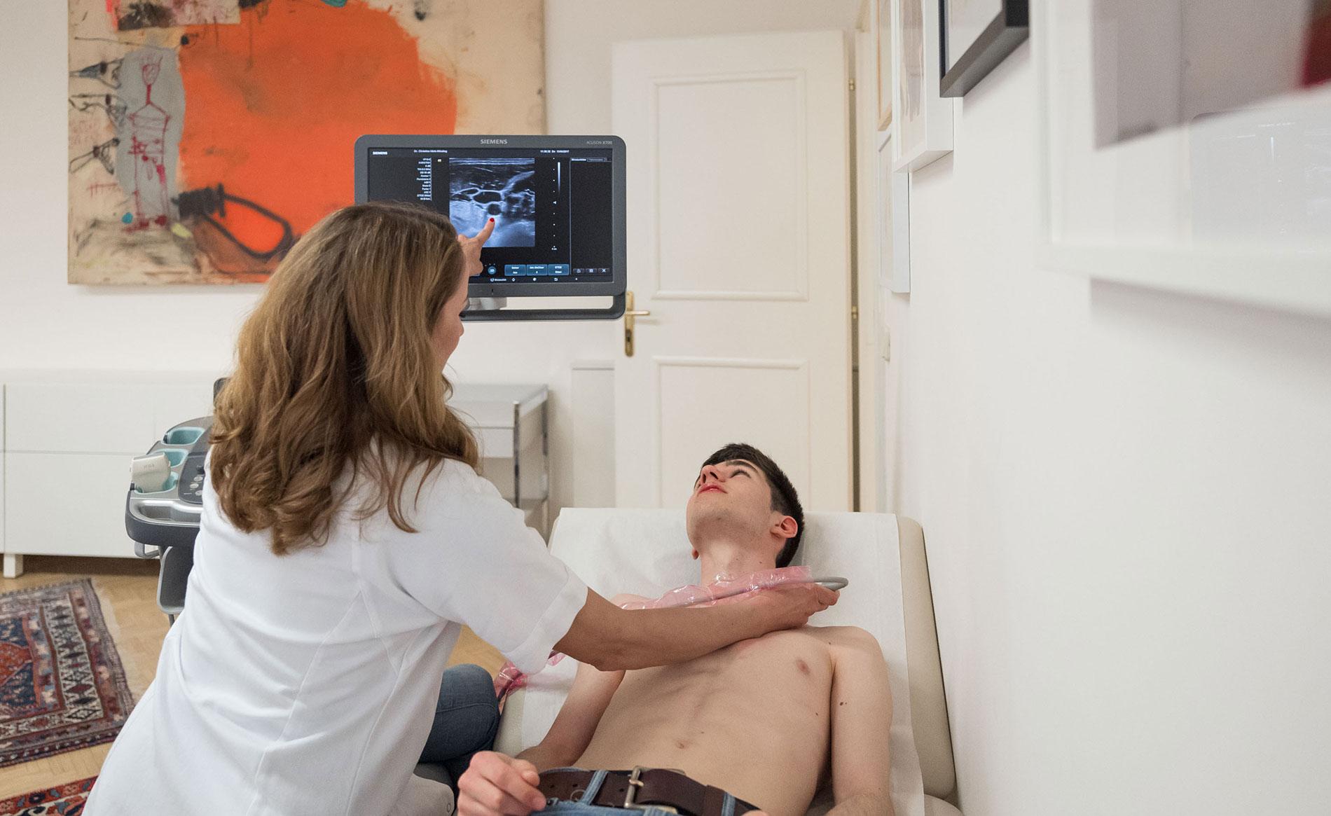Carotistriplexsonographie - die Internistin